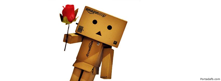 portada facebook robot con cajas de carton