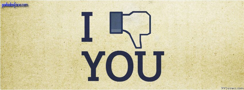 Portadas Facebook - I don't like you