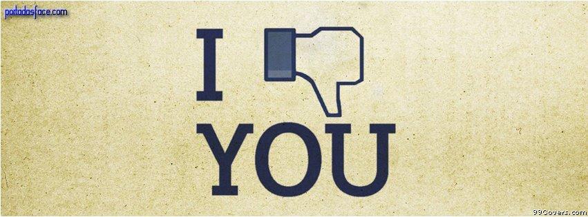 Portadas Facebook - I don't like you