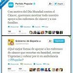 El PP muestra su apoyo a los enfermos de cáncer. Reacciones
