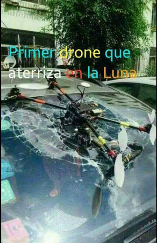 """Primer dron que aterriza en la """"luna"""""""