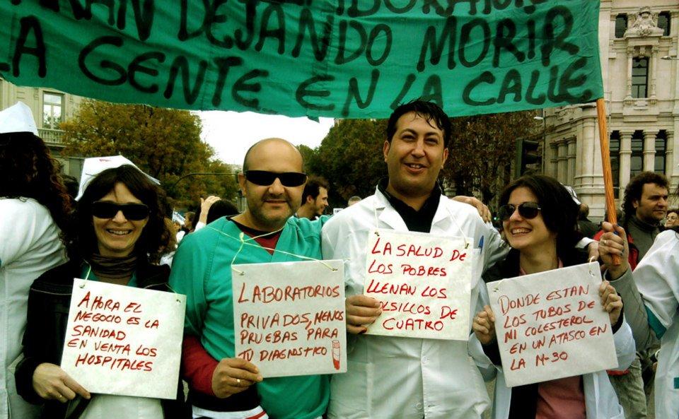 privatizacion de la sanidad manifestacion