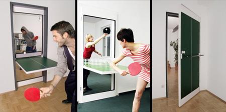 puerta mesa de ping pong
