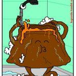 ¿Qué hace un volcán en la ducha?