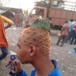 Hazme un corte de pelo fresco y tropical…
