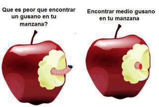 ¿Qué es peor que encontrar un gusano en tu manzana?