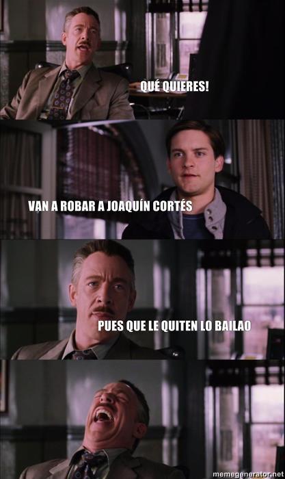 Van a robar a Joaquín Cortés