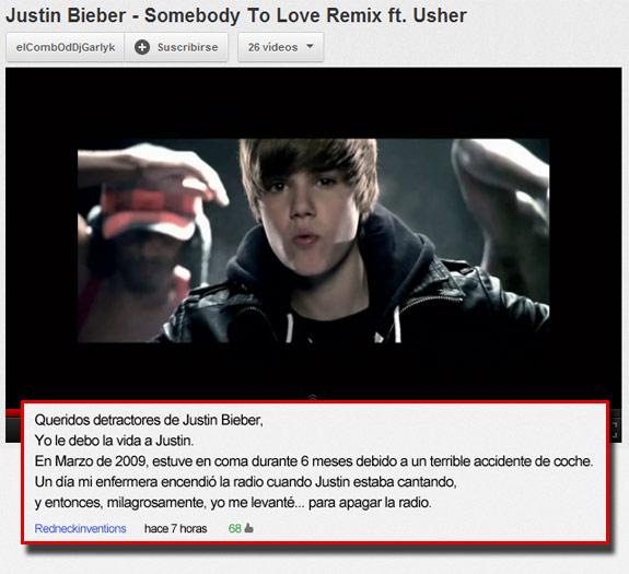 Mensaje para los detractores de Justin Bieber