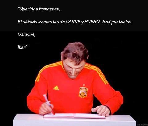 Carta de Iker a la selección francesa
