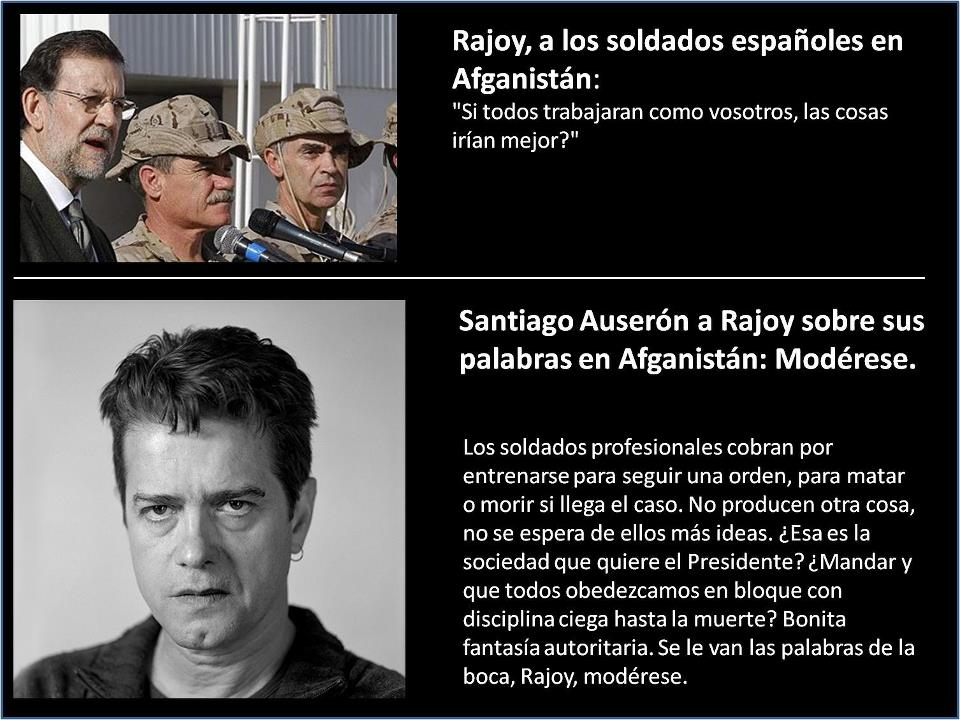Santiago Auserón a Rajoy sobre sus palabras en Afganistán