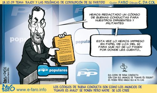 Los códigos de buena conducta de Rajoy