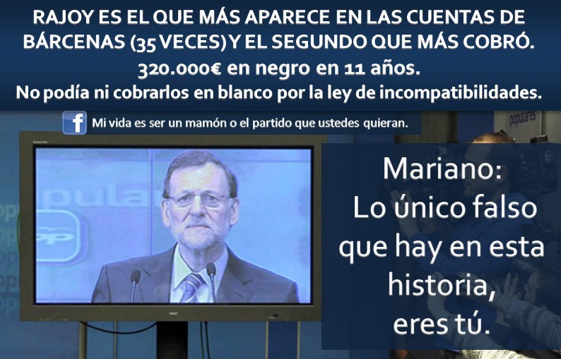 Rajoy, el que más aparece en las cuentas de Bárcenas