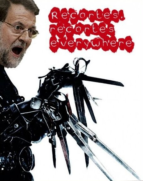 Rajoy Manostijeras - Recortes everywhere