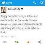 Rajoy no sabía nada, la infanta no sabia nada, el banco de españa tampoco, pero un preferentista de 90 años se jode porque debía saberlo todo