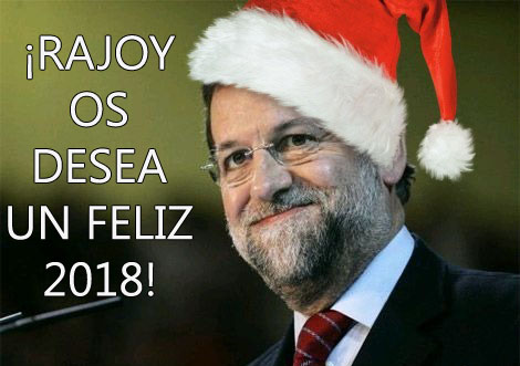 Rajoy os desea un feliz 2018