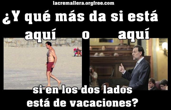 Rajoy de vacaciones