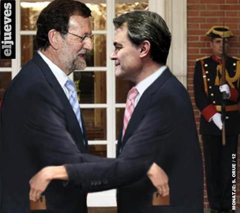 Encuentro entre Rajoy y Mas