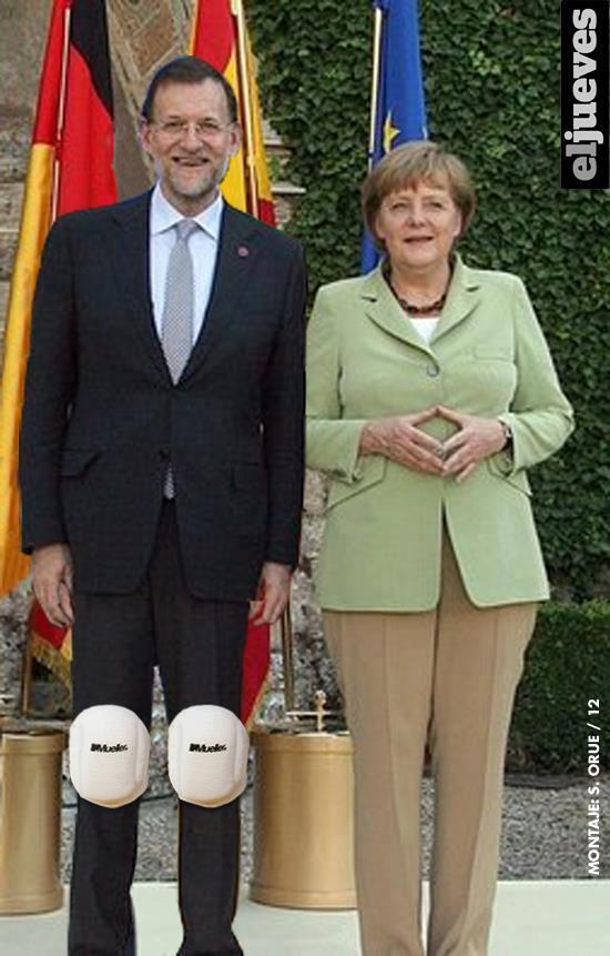 Rajoy y Merkel - Foto oficial