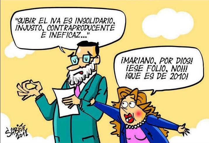 Rajoy se equivoca de discurso