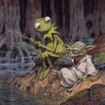 La rana Gustavo y Yoda