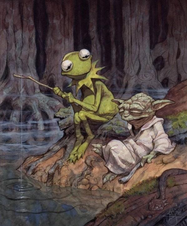 La rana Gustavo y Yoda  Cosas que pasan