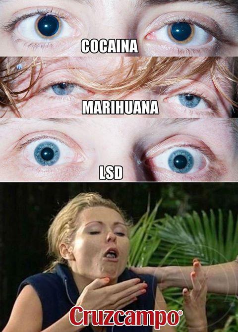 Reacciones físicas ante distintos tipos de droga