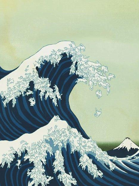 Recreación de la pintura (Katsushika Hokusai)