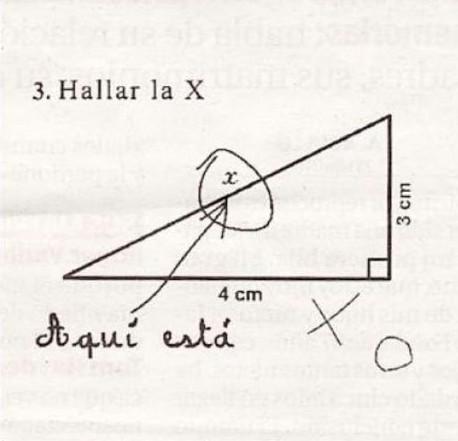 Respuesta de examen: Hallar la X