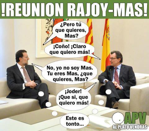 Reunión de Rajoy y Artur Más