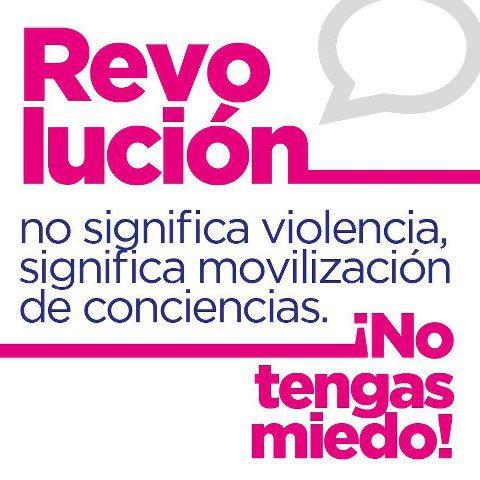 Revolución no significa violencia