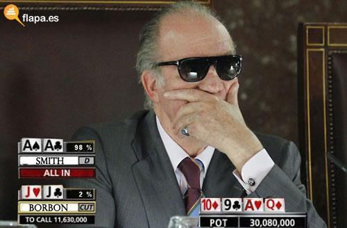Juan Carlos jugando al Poker