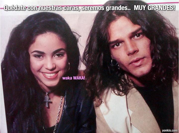 Ricky Martin y Shakira antes de ser grandes estrellas