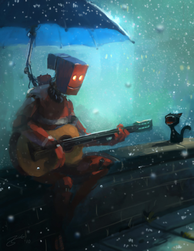 Robot tocando la guitarra
