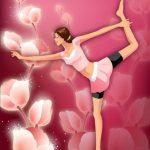 Bailarina y rosas