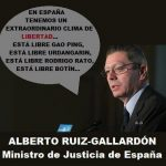 En España tenemos un clima de libertad (Ruiz-Gallardón)