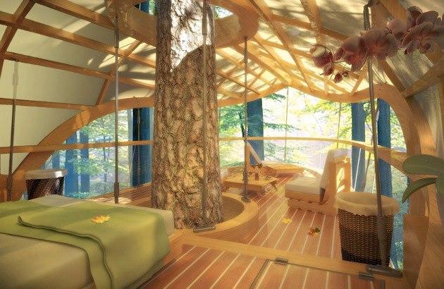 Salón integrado en la Naturaleza