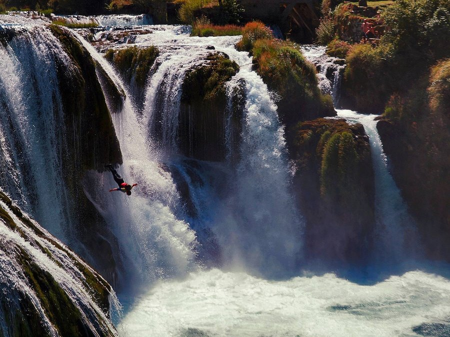 Salto del ángel en cascada
