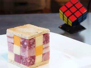 Sandwich cubo de Rubik