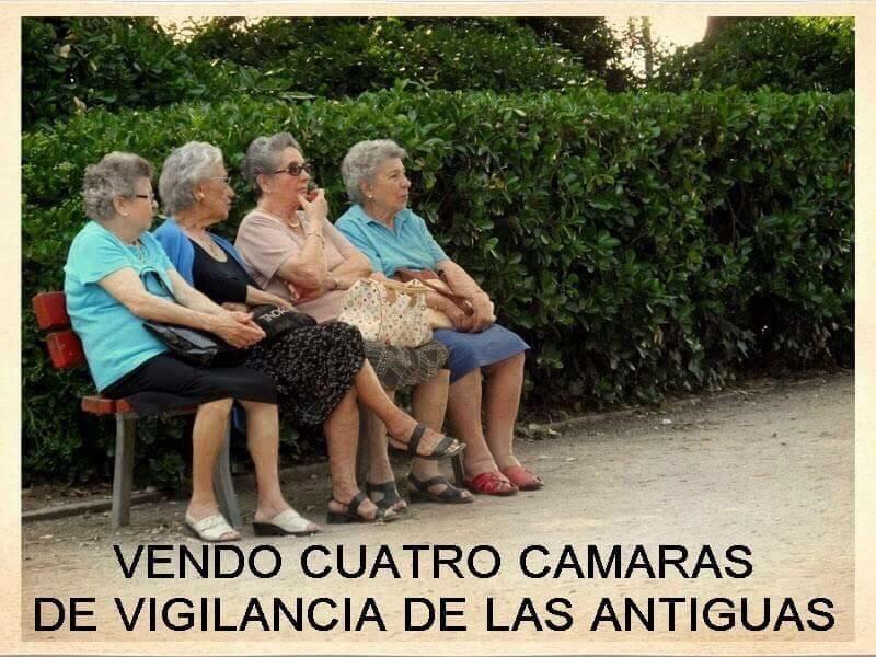 Vendo cuatro cámaras de vigilancia de las antiguas