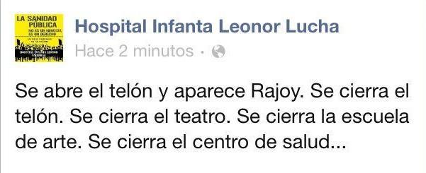 Se abre el telón y aparece Rajoy