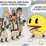 Pacman encuentra a los cazafantasmas