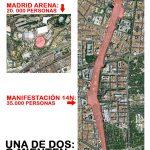 Asistentes al Madrid y a la manifestación del 14N según la policía