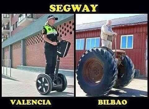 Segway en Valencia vs segway en Bilbao