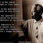 Nelson Mandela, acerca de las pseudo-democracias