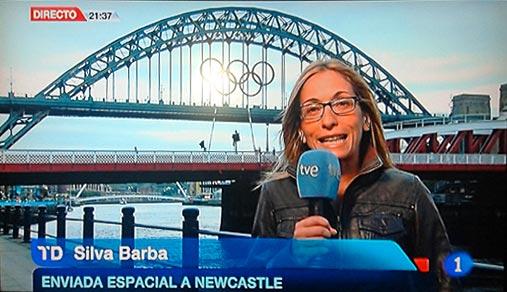 Silvia, enviada espacial a Newcastle