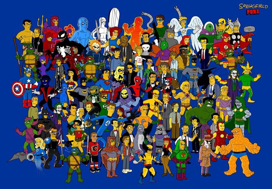 Superhéroes simpsonizados