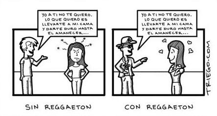 sin reggaeton - con reggaeton