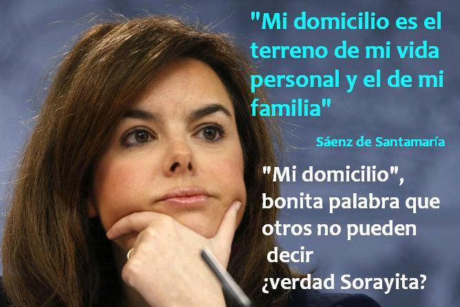 """""""Mi domicilio"""", algo que no todos pueden decir, ¿verdad Sorayita?"""