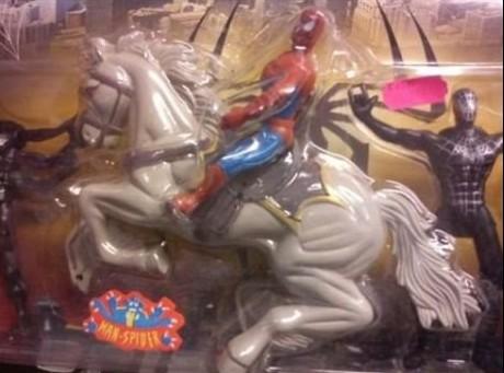 Spiderman y su caballo