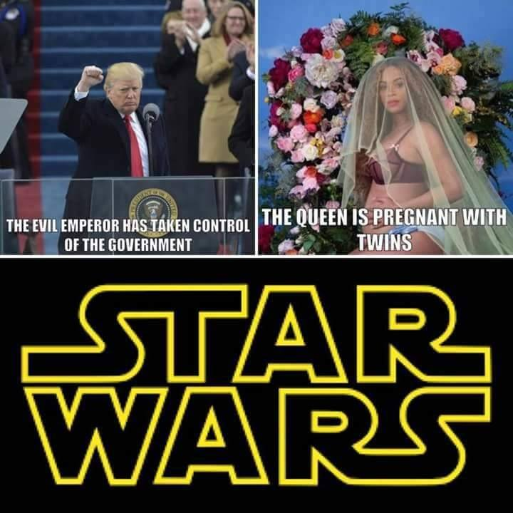 star wars donald trump beyonce embarazada de gemelos